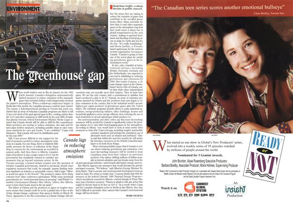 Article Preview: The 'greenhouse' gap, March 1995 | Maclean's