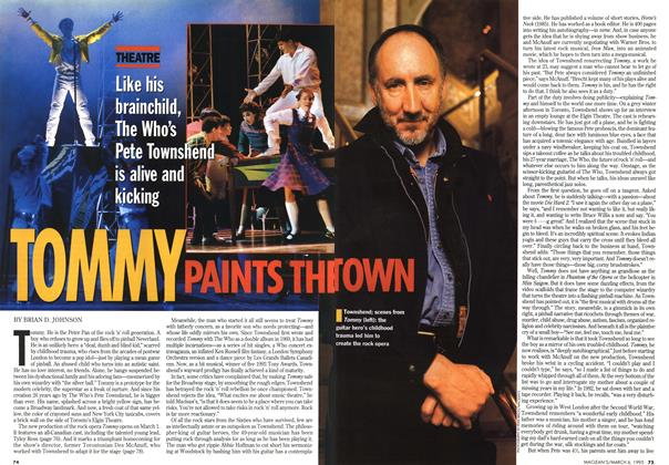 Article Preview: TOMMY PAINTS THE TOWN, March 1995 | Maclean's