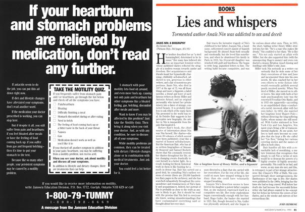 Article Preview: Lies and whispers, March 1995 | Maclean's