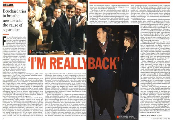 Article Preview: 'I'M REALLY BACK', March 1995 | Maclean's