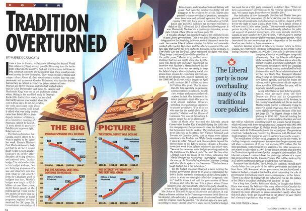 Article Preview: TRADITION OVERTURNED, March 1995 | Maclean's