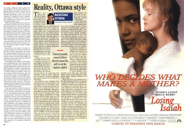 Article Preview: Reality, Ottawa style, March 1995 | Maclean's