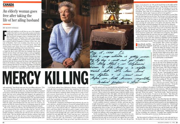 Article Preview: MERCY KILLING, March 1995 | Maclean's