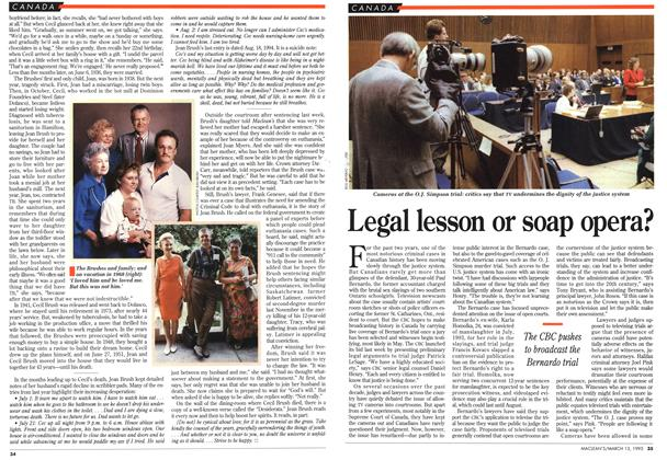 Article Preview: Legal lesson or soap opera?, March 1995 | Maclean's