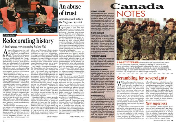 Article Preview: Redecorating history, March 1995 | Maclean's