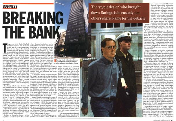 Article Preview: BREAKING THE BANK, March 1995 | Maclean's