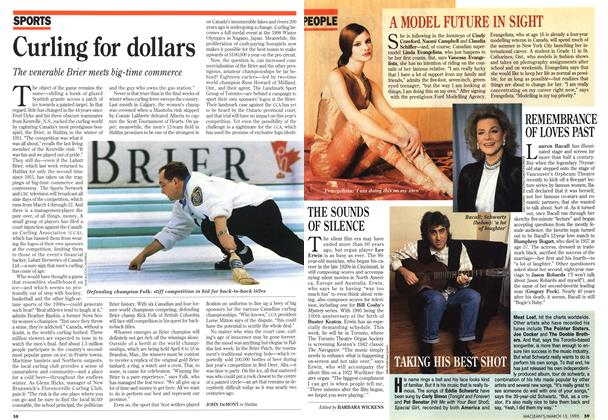 Article Preview: Curling for dollars, March 1995 | Maclean's