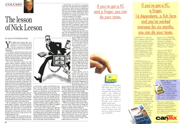 Article Preview: The lesson of Nick Leeson, March 1995 | Maclean's