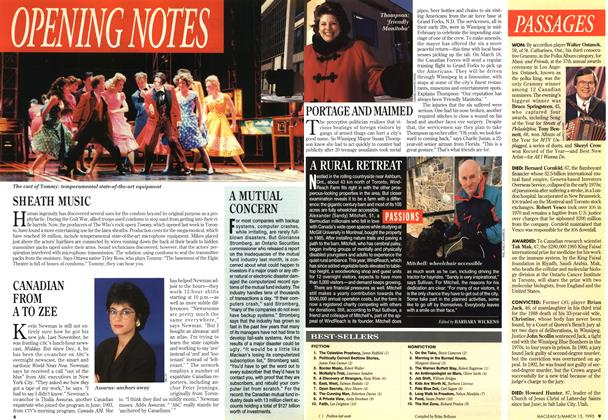 Article Preview: OPENING NOTES, March 1995 | Maclean's