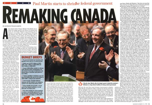 Article Preview: Remaking Canada, March 1995 | Maclean's