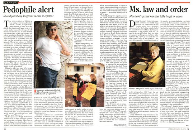 Article Preview: Ms. law and order, March 1995 | Maclean's
