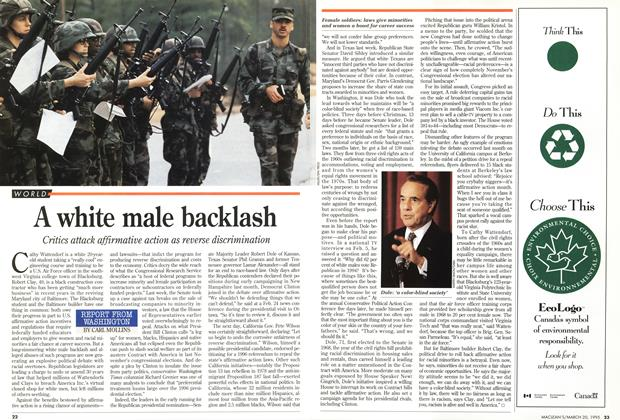 Article Preview: A white male backlash, March 1995 | Maclean's