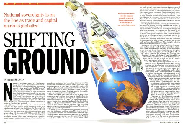 Article Preview: SHIFTING GROUND, March 1995 | Maclean's