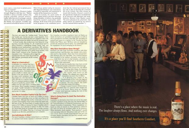 Article Preview: A DERIVATIVES HANDBOOK, March 1995 | Maclean's