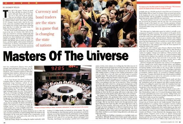 Article Preview: Masters Of The U niverse, March 1995 | Maclean's