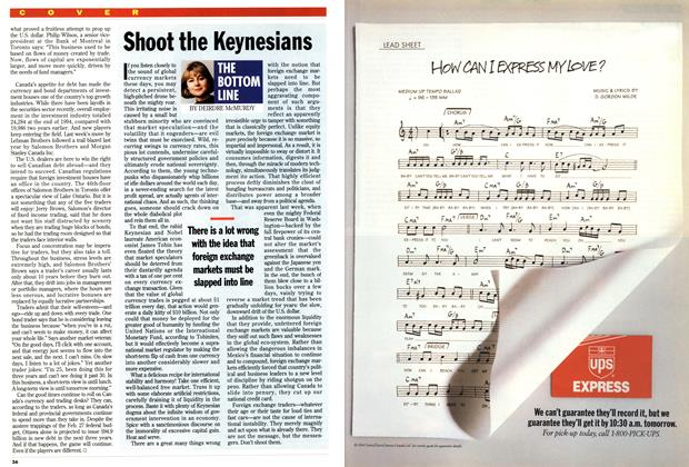 Article Preview: Shoot the Keynesians, March 1995 | Maclean's