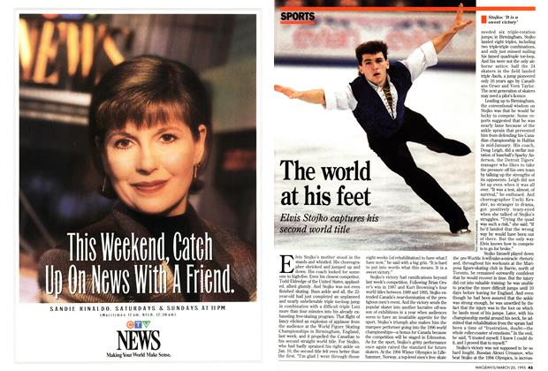 Article Preview: The world at his feet, March 1995 | Maclean's