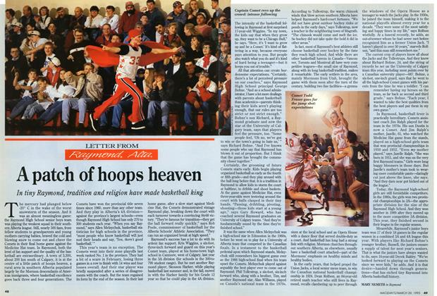 Article Preview: A patch of hoops heaven, March 1995 | Maclean's