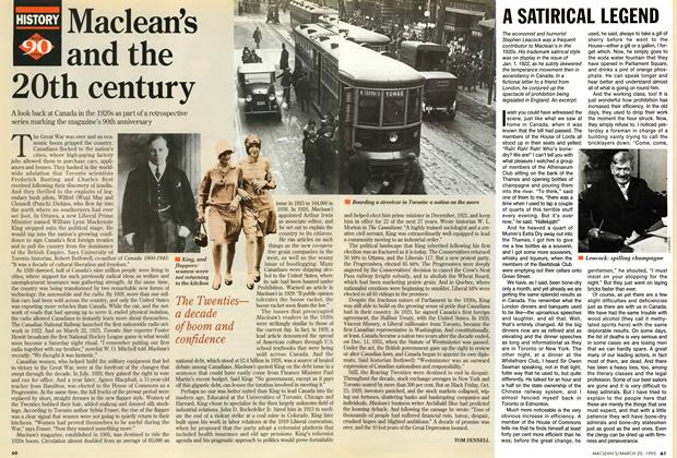 Article Preview: Maclean's and the 20th century, March 1995 | Maclean's