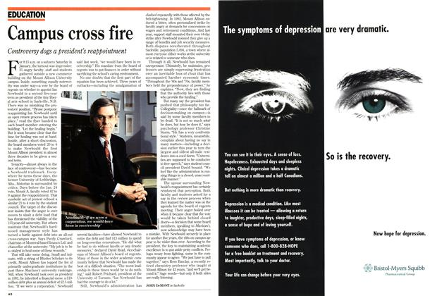 Article Preview: Campus cross fire, March 1995 | Maclean's