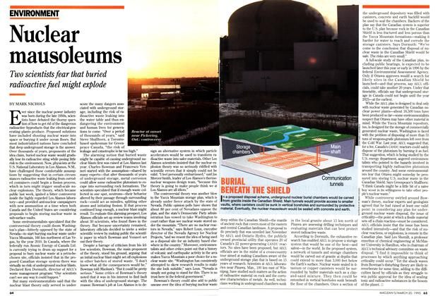 Article Preview: Nuclear mausoleums, March 1995   Maclean's