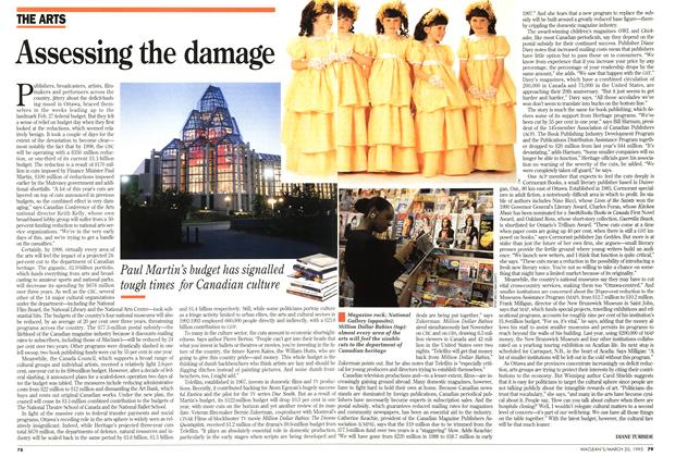 Article Preview: Assessing the damage, March 1995 | Maclean's