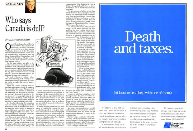 Article Preview: Who says Canada is dull?, March 1995 | Maclean's