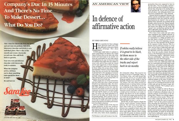 Article Preview: In defence of affirmative action, March 1995 | Maclean's