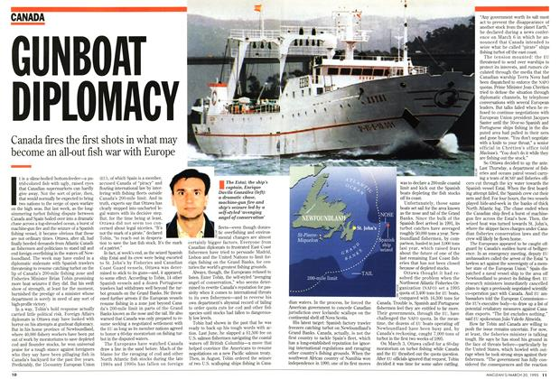 Article Preview: GUNBOAT DIPLOMACY, March 1995 | Maclean's