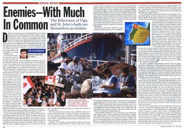 Article Preview: Enemies-With Much In Common, March 1995 | Maclean's
