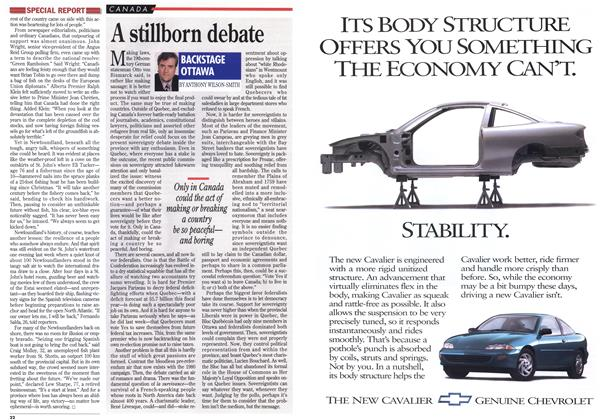 Article Preview: A stillborn debate, March 1995 | Maclean's