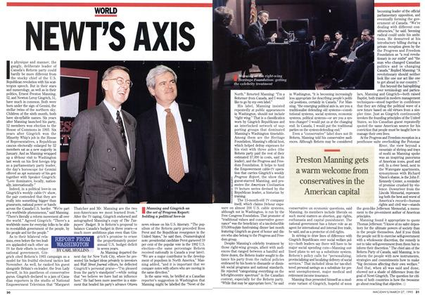 Article Preview: NEWT'S AXIS, March 1995 | Maclean's