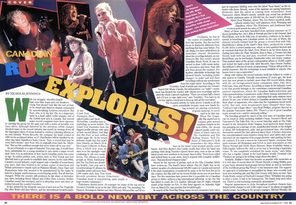 Article Preview: CANADIAN ROCK EXPLODES!, March 1995 | Maclean's
