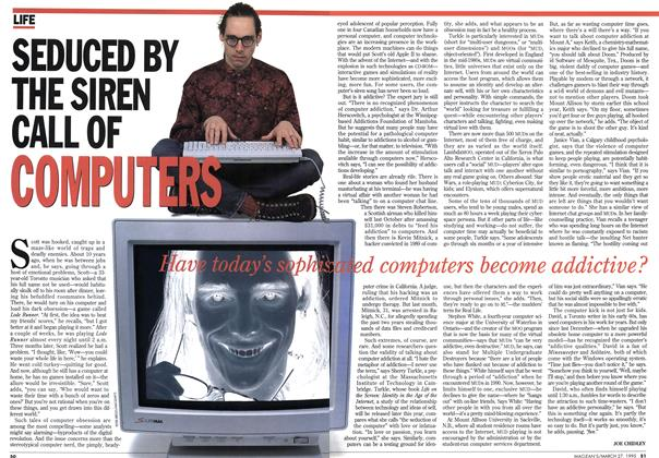 Article Preview: SEDUCED BY THE SIREN CALL OF COMPUTERS, March 1995 | Maclean's