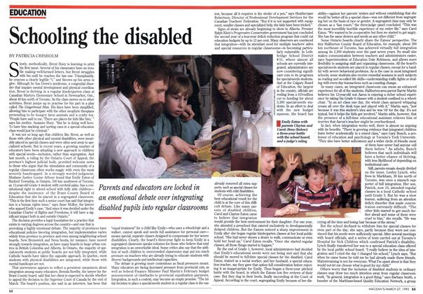 Article Preview: Schooling the disabled, March 1995 | Maclean's