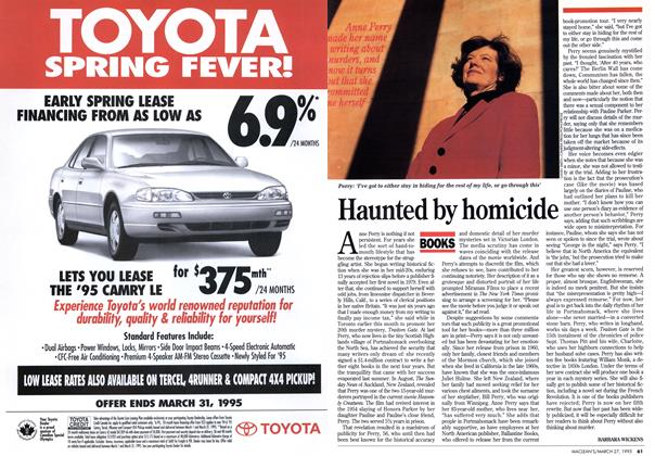 Article Preview: Haunted by homicide, March 1995 | Maclean's