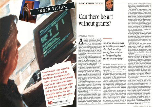 Article Preview: Can there be art without grants?, March 1995 | Maclean's