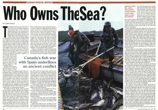 Article Preview: Who Owns The Sea?, March 1995 | Maclean's