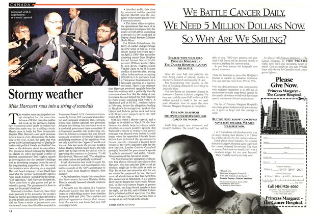 Article Preview: Stormy weather, April 1995 | Maclean's