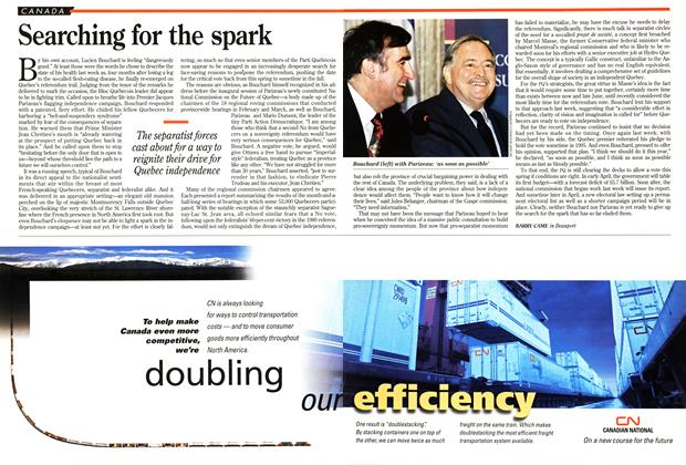 Article Preview: Searching for the spark, April 1995 | Maclean's