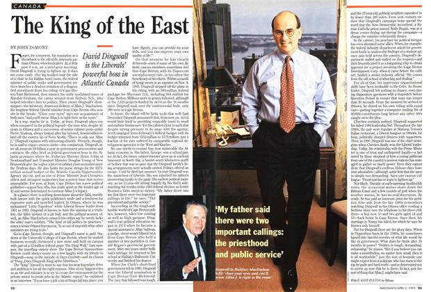 Article Preview: The King of the East, April 1995 | Maclean's