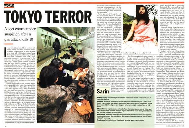 Article Preview: TOKYO TERROR, April 1995 | Maclean's