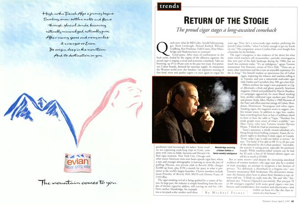 Article Preview: RETURN OF THE STOGIE, April 1995 | Maclean's