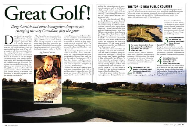 Article Preview: Great Golf!, April 1995 | Maclean's