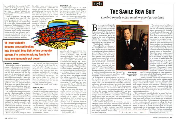 Article Preview: THE SAVILE ROW SUIT, April 1995 | Maclean's