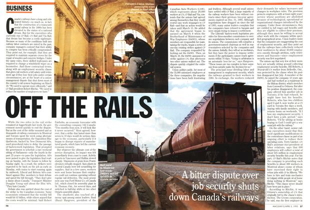 Article Preview: OFF THE RAILS, April 1995 | Maclean's