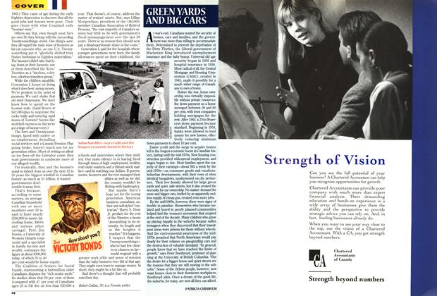 Article Preview: GREEN YARDS AND BIG CARS, April 1995   Maclean's