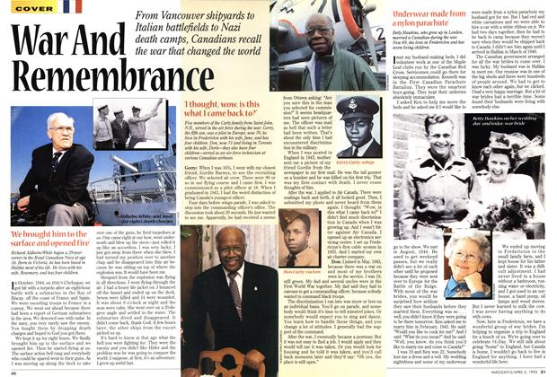 Article Preview: War And Remembrance, April 1995 | Maclean's