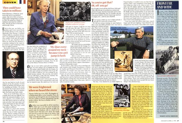 Article Preview: FROM FAR AND WIDE, April 1995 | Maclean's