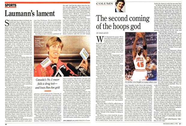 Article Preview: The second coming of the hoops god, April 1995 | Maclean's